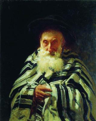 Илья Ефимович Репин. Еврей на молитве