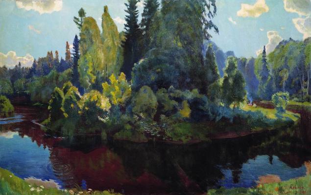 Аркадий Александрович Рылов. На природе