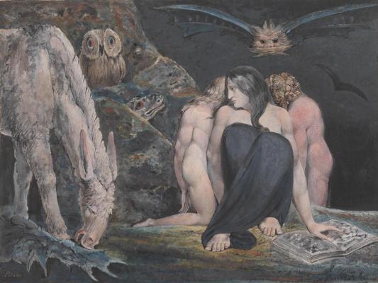 William Blake. Night of Enitarmon Joy (Hecate)