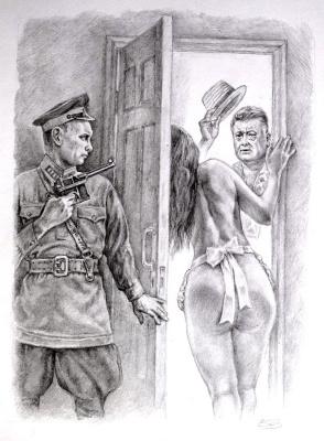Alexander Petrovich Botvinov. Ambush in sq No. 50