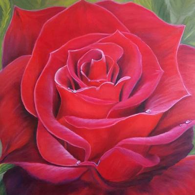 Nadezhda Nikolaevna Kravtsova. Rose flower