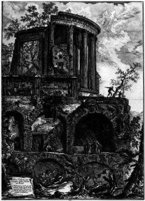 Джованни Баттиста Пиранези. Вид храма Сивиллы в Тиволи