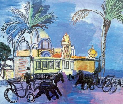 Raoul Dufy. Casino de La Jetée - promenade in carriages