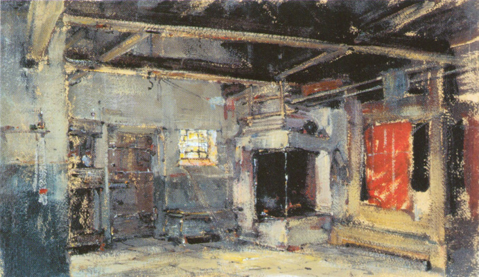 Nikolay Feshin. The interior of the hut