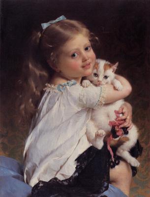 Emil Münje. A girl with a friend