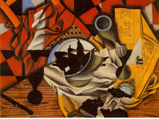 Juan Gris. Pears and grapes on a table