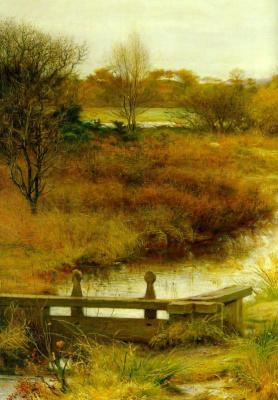 John Everett Millais. Long autumn. Fragment