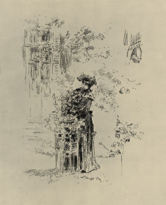 James Abbot McNeill Whistler. Beautiful gardener