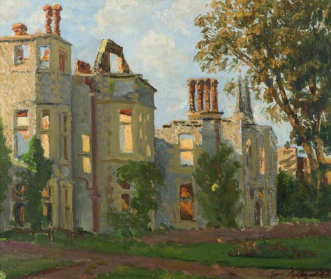 James Proudfoot. Burnt house