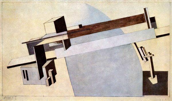 El Lissitzky. Proun 1A, the Bridge I