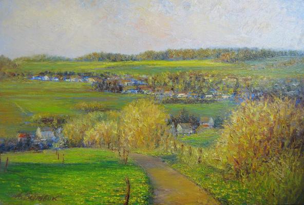 Andrei Ivanovich Boravik. Bunter Mai.Hellenhausen/Paint may.Hellinghausen