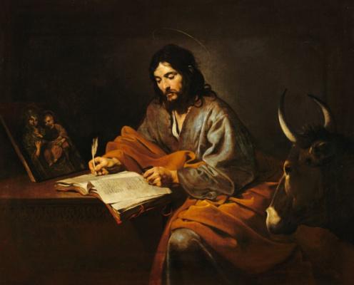 Valentin de Boulogne. The Apostle Luke