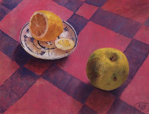 Kuzma Sergeevich Petrov-Vodkin. Apple and lemon