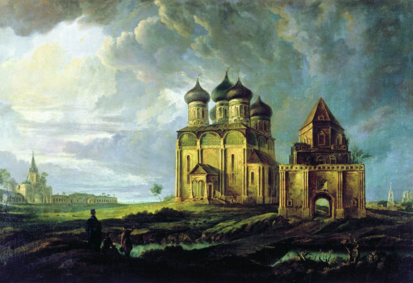 Карл-Фридрих Петрович Бодри Россия 1812 - 1894. View of the village of Izmailovo. 1830
