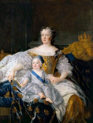 Алексис Белль  Симон. Королева Франции Мария Лещинская и дофин