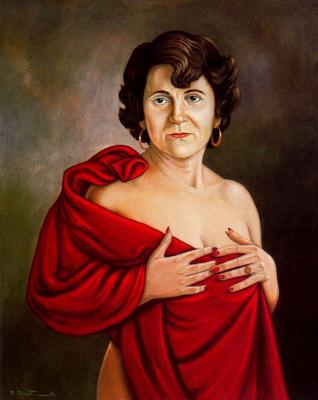 Эмилио Бонет Казанова. Женщина с красной шалью