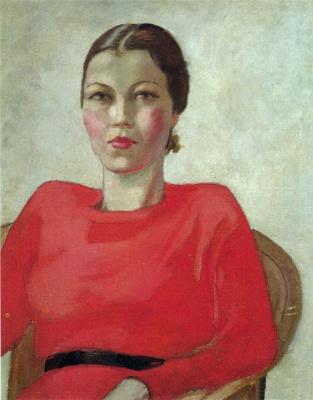 Aleksandr Aleksandrovich Deineka. The woman in red