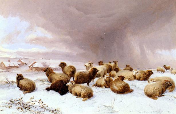 Томас Сидней Купер. Овцы зимой