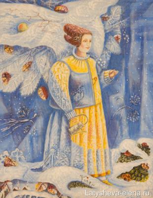 Elena Alekseevna Latysheva. First snow