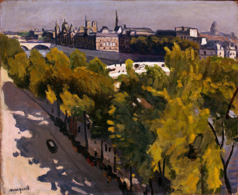 Albert Marquet. The new bridge