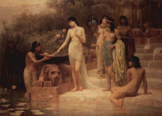 Эдвин Лонг. Дочь фараона находит младенца Моисея