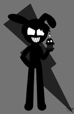 Cat The killer. Shadow bonnie and shadow cupcake