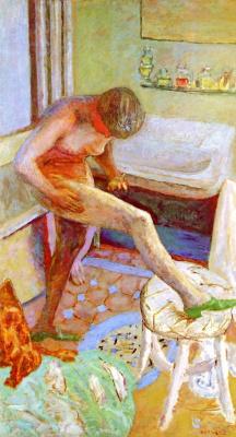 Pierre Bonnard. Nude in green sneakers