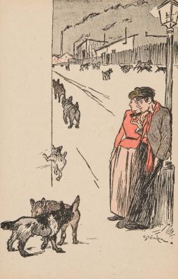 Theophile-Alexander Steinlen. Street dogs