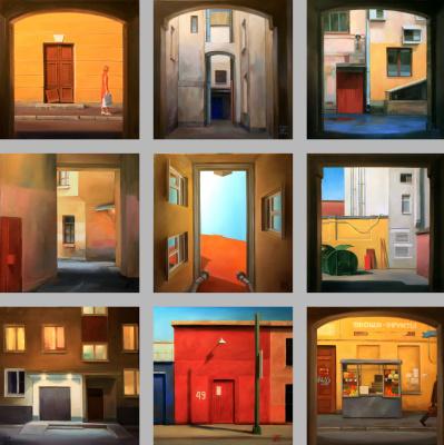 Irina Bogdanova. Portals. Polyptych of 9 works.
