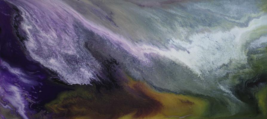 "Alla Struchayeva. Painting ""Cosmic Dust"""