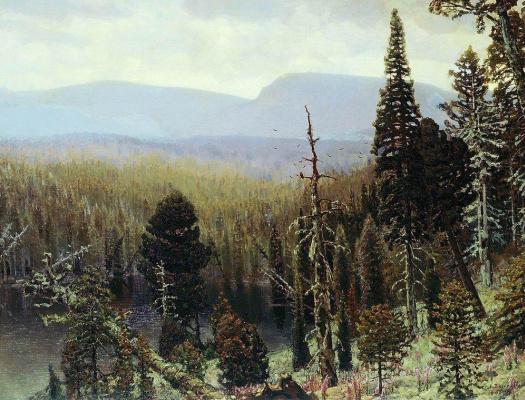 Apollinarius Mikhailovich Vasnetsov. Blue mountain