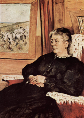 Giovanni Fattori. A portrait of the third wife of the artist