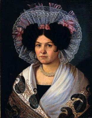 Alexander Grigorievich Varnek. Portrait of a fat. Volgograd Museum of Fine Arts named after I. Mashkov