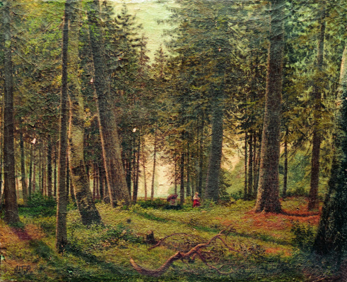 Lev Feliksovich Lagorio. In the spruce forest