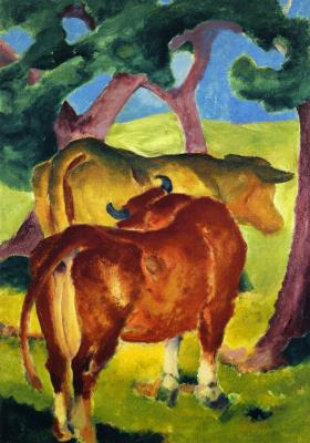 Franz Marc. Cows under Trees