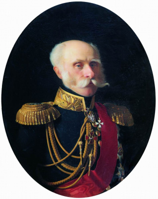 Sergey Konstantinovich Zaryanka. Portrait of Adjutant General Fedor Petrovich Litke
