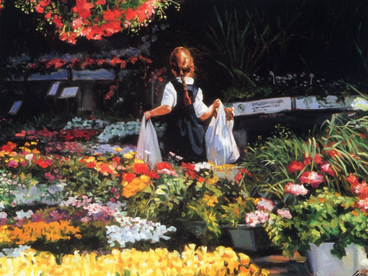 Карло Косентино. Цветочный рынок