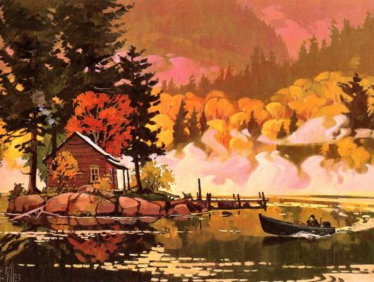 Санкт Жиль. Осень на озере Тремблан
