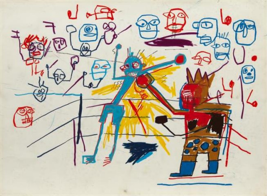 Jean-Michel Basquiat. Untitled (Boxing ring)