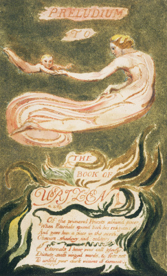 William Blake. The first book Urizen. The woman with the baby