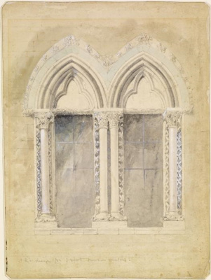 John Ruskin. Oxford University window design