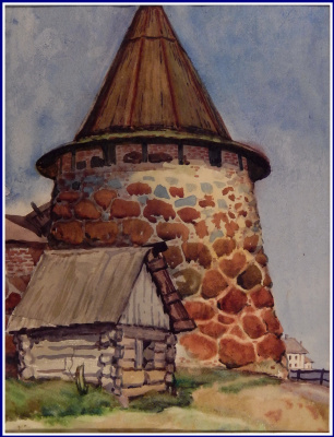 Victor Georgievich Efimenko. Tower on Balaam. 1972