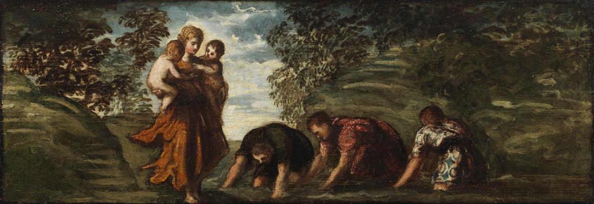 Jacopo (Robusti) Tintoretto. Latona and Lycian peasants