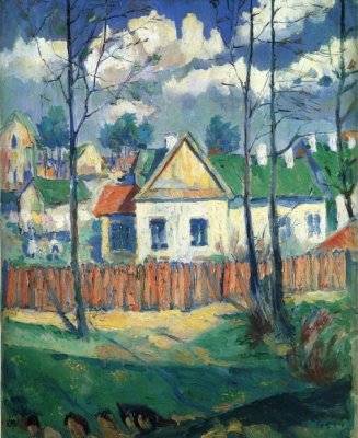 Казимир Северинович Малевич. Весна. Пейзаж с домиком