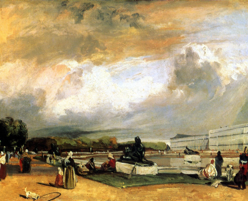 Richard Parkes Bonington. The parterre in Versailles