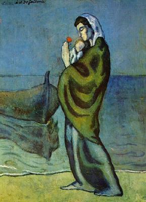 Пабло Пикассо. Мать с ребенком на берегу реки