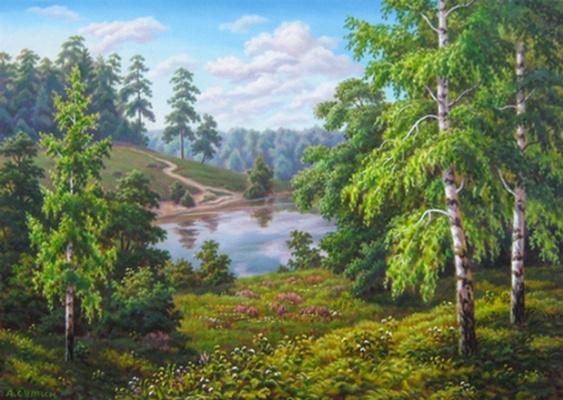Андрей Никонорович Сутин. The flowers of birches