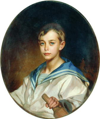 Portrait of Count B. S. Sheremetev in childhood. 1880s