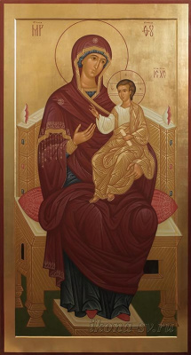 Victoria Viktorovna Sorokina. Mother of God on the throne