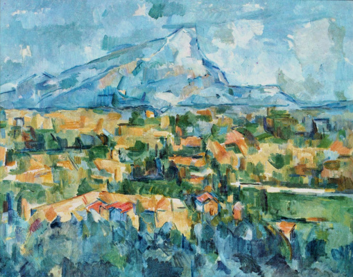 Paul Cezanne. Mount Sainte Victoire mountain (the Mount of Saint Victoria)